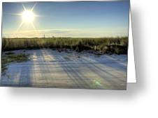 Folly Beach Sunrise Over Morris Island Greeting Card by Dustin K Ryan