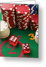 Gambling Dice Greeting Card by Garry Gay