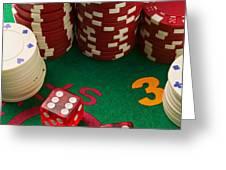 Gambling dice Greeting Card by Garry Gay