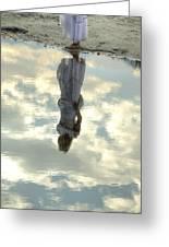 Girl And The Sky Greeting Card by Joana Kruse