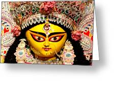 Goddess Durga Greeting Card by Chandrima Dhar