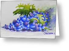 Grapes Greeting Card by Chrisann Ellis