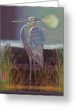 Great Blue Heron Greeting Card by Lydia L Kramer
