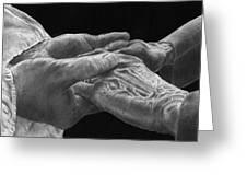 Hands of Love Greeting Card by Jyvonne Inman
