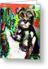 Harley In Hand Greeting Card by James Thomas