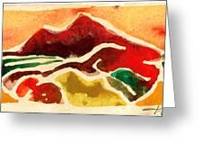 High Mountain Meadows Greeting Card by Annie Alexander