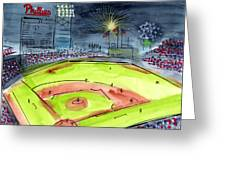 Home Of The Philadelphia Phillies Greeting Card by Jeanne Rehrig