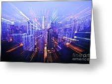 Hong Kong Lights Greeting Card by Ray Laskowitz - Printscapes