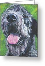 Irish Wolfhound Greeting Card by Lee Ann Shepard