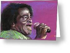 Jazz. James Brown. Greeting Card by Yuriy  Shevchuk