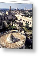 Jerusalem From The Tower Of David Museum Greeting Card by Thomas R Fletcher