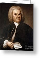 Johann Sebastian Bach, German Baroque Greeting Card by Photo Researchers
