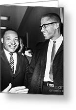 King And Malcolm X, 1964 Greeting Card by Granger