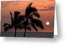 Kona Sunset Greeting Card by Kelly Wade
