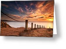 La Jolla Sunset 2 Greeting Card by Larry Marshall