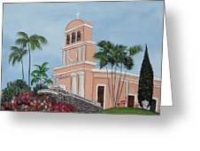 La Monserrate Greeting Card by Gloria E Barreto-Rodriguez