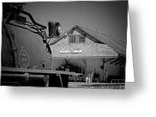 Laws Depot And Locomotive 9 Greeting Card by Troy Montemayor
