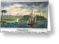 Liberia: Freed Slaves 1832 Greeting Card by Granger