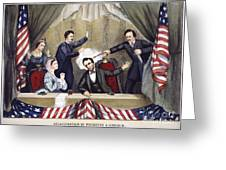 Lincoln Assassination Greeting Card by Granger