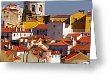 Lisbon View Greeting Card by Carlos Caetano