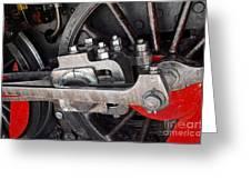 Locomotive Wheel Greeting Card by Carlos Caetano