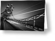 London Tower Bridge Greeting Card by Nina Papiorek