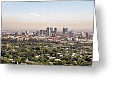 Los Angeles California - Glitter and Trouble Greeting Card by Christine Till
