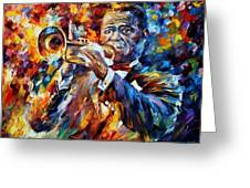 Louis Armstrong Greeting Card by Leonid Afremov