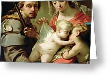 Madonna And Child Greeting Card by Gaetano Gandolfi