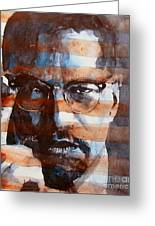 Malcolmx Greeting Card by Paul Lovering