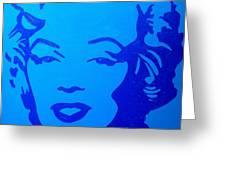 Marilyn Greeting Card by John  Nolan
