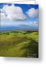 Maui Aerial Greeting Card by Ron Dahlquist - Printscapes