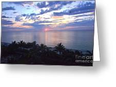 Miami Sunrise Greeting Card by Pravine Chester