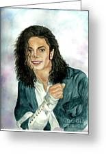 Michael Jackson - Will You Be There Greeting Card by Nicole Wang