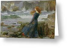 Miranda Greeting Card by John William Waterhouse