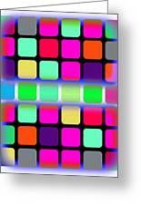 Modern Paintings Abstract Bubble Wall Art Greeting Card by Robert R Splashy Art