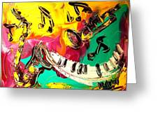 Music Jazz Greeting Card by Mark Kazav