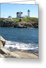 Nubble In October Greeting Card by Bridget Mullane