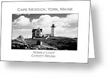 Nubble Light Greeting Card by Christy Bruna