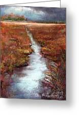 October Goshen Creek Greeting Card by Peter R Davidson