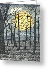 October Moon Greeting Card by Patrick Grills