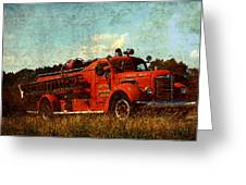Old Fire Truck Greeting Card by Off The Beaten Path Photography - Andrew Alexander