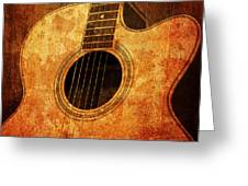 Old Guitar Greeting Card by Nattapon Wongwean