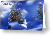 Outdoor Christmas Trees Greeting Card by Utah Images