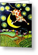 Over The Moon Greeting Card by Tex Norman