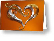 Passion Hearts Greeting Card by Diane Snider