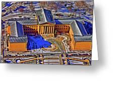 Philadelphia Museum Of Art 26th Street And Benjamin Franklin Parkway Philadelphia Pennsylvania 19130 Greeting Card by Duncan Pearson