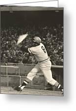 Pittsburgh Pirate Willie Stargell Batting At Dodger Stadium  Greeting Card by Jamie Baldwin
