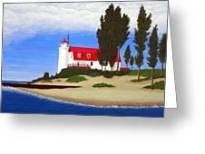 Point Betsie Lighthouse Greeting Card by Frederic Kohli