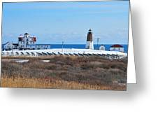 Point Judith Light Greeting Card by Catherine Reusch  Daley